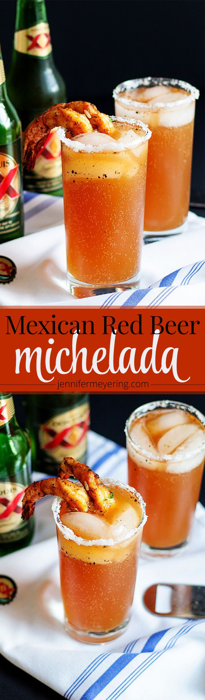 According to Wikipedia, a michelada is a Mexican cerveza preparada made with beer, lime juice, and assorted sauces, spices, and peppers. It's traditionally served in a chilled, salt-rimmed glass. Some people in Mexico believe micheladas are a good remedy for