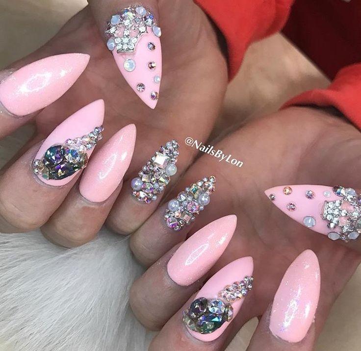 Princess pink by @nailsbylon