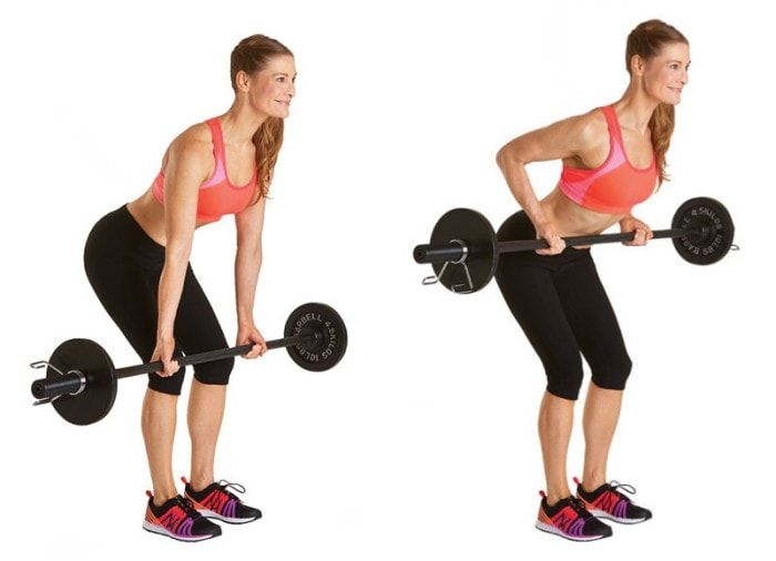 Get Rid Of Back Fat And Bra Bulge - Bent Over Barbell Row