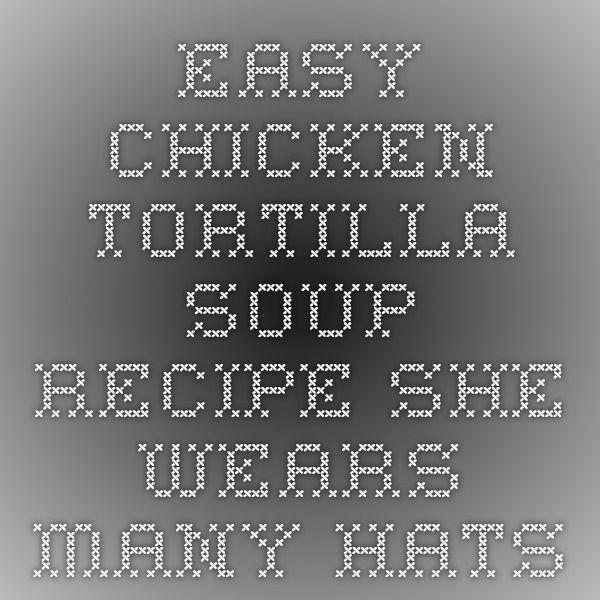 Easy Chicken Tortilla Soup Recipe - She Wears Many Hats