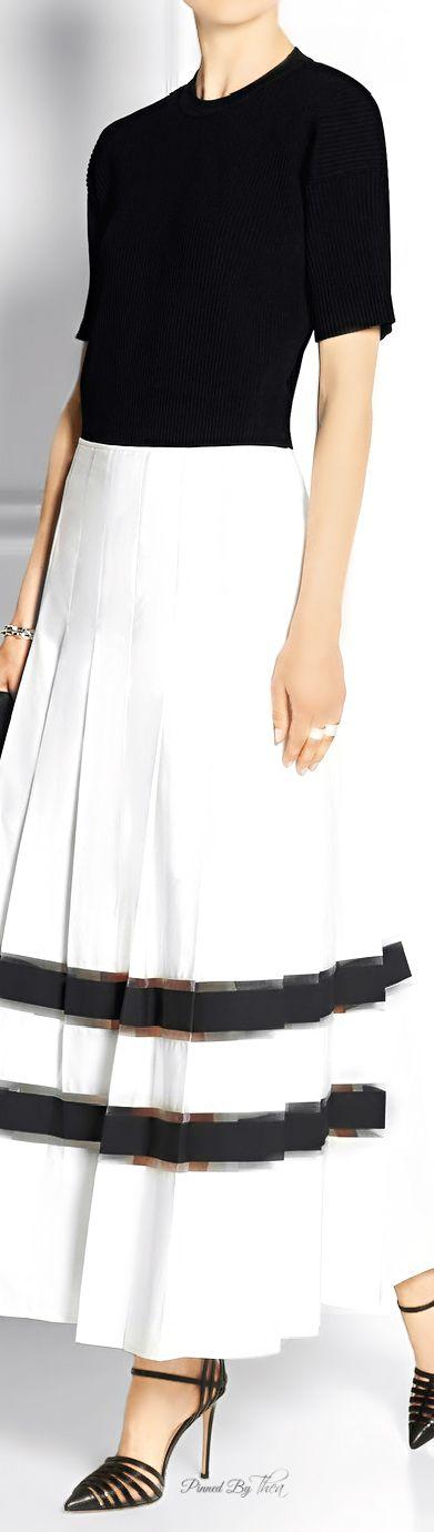Fendi ● Cotton-taffeta maxi skirt