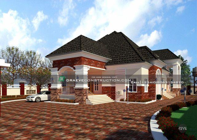 Bungalow With Penthouse Building Plan Designs In Nigeria Draeve Duplex Design Duplex House Design Building Plan