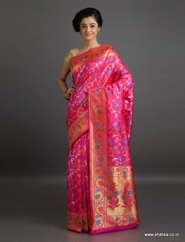 Damayanti Blossom of Brocade #Wedding Banarasi #ShaluSilkSaree