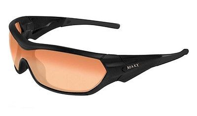 Maxx Sunglasses Shield Black Frame HD Amber HD Lenses