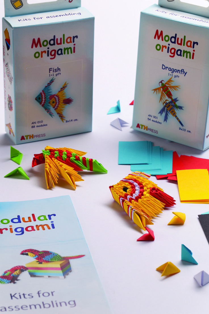 Origami kits from Ath Press and distributed by Creative Product Distirbution