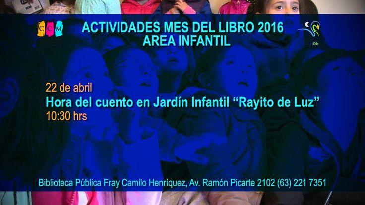ACTIVIDADES MES DEL LIBRO 3ºSEMANA 2016