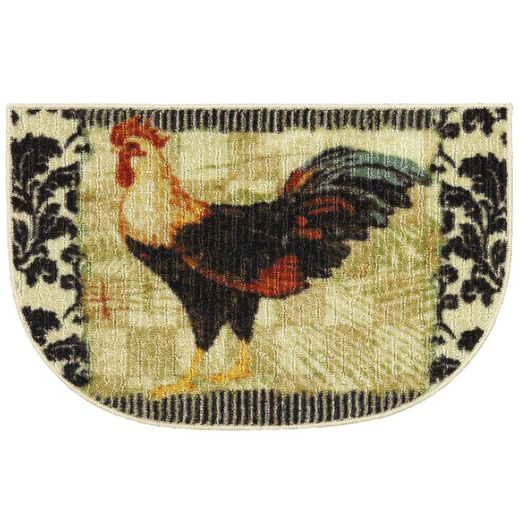 Rooster Kitchen Accent Rug. Looks Great By The Sink.