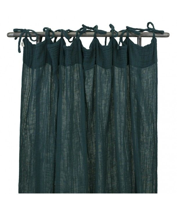 Flat Curtain teal blue