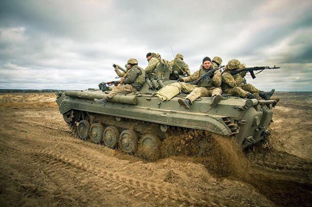 Ukrainian forces on the move