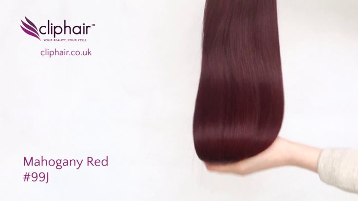Shade: Mahogany Red Hair Extensions (#99J): see product in this video: https://www.cliphair.co.uk/Mahogany-Red-Hair-Extensions-99J/