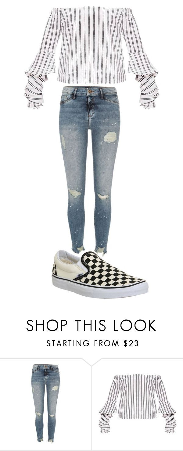"""""""Zara"""" by kyaneeee on Polyvore featuring River Island and Vans"""