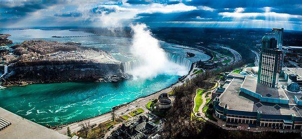 Ниагарский водопад, вид с башни Скайлон, Канада