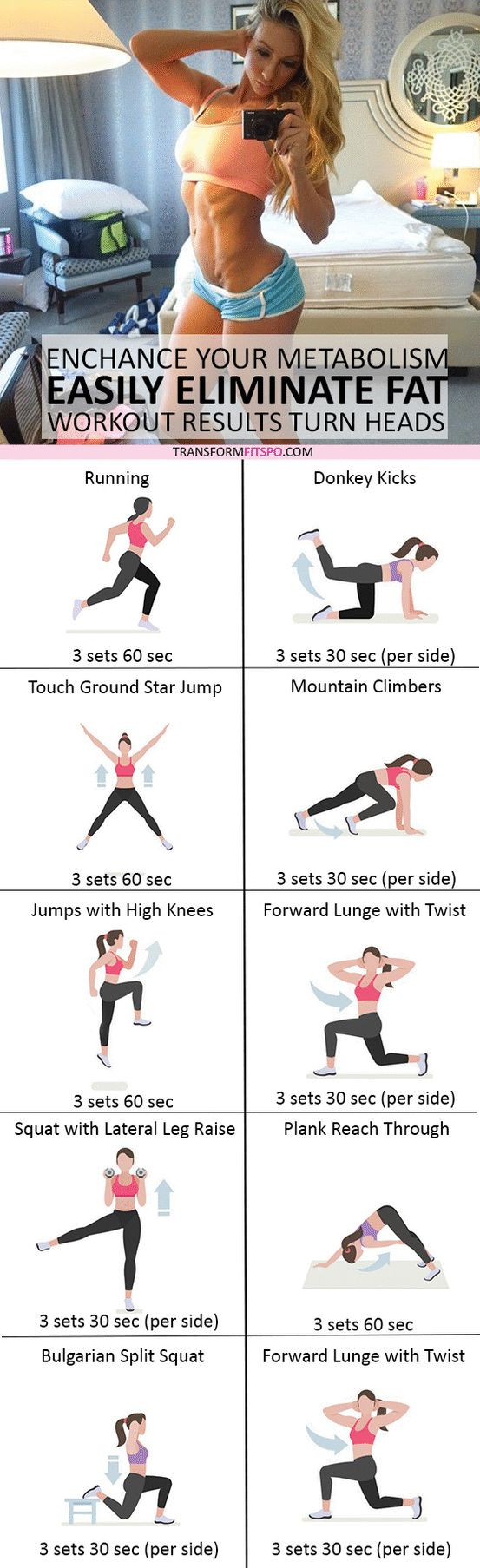 #womensworkout #workout #femalefitness Repin and share if this workout eliminated stubborn fat! Click the pin for the full workout.