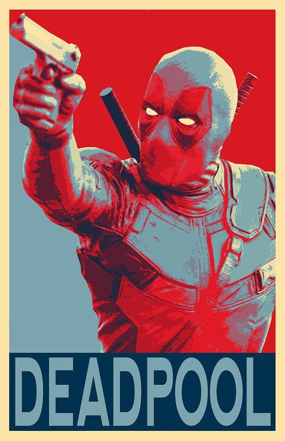 Deadpool Political Illustration 2 Marvel Superhero Movie