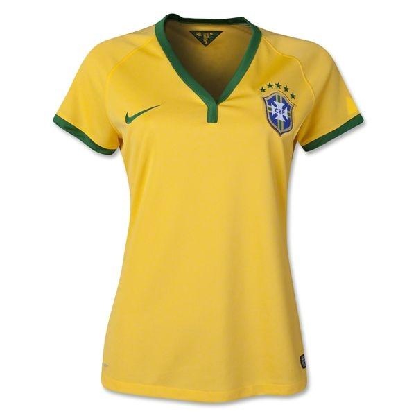 2014 FIFA World Cup Brazil Neymar JR 10 Women Home Soccer Jersey