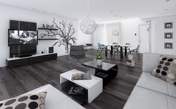 Дизайн гостиной в стиле хай-тек: фото, идеи, интерьер | Wergin.ru