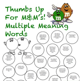 Multiple Meaning word pairs  - have them color the matching one the same color!  Then after practice, make their own - LOVE IT! #PeachySpeechie