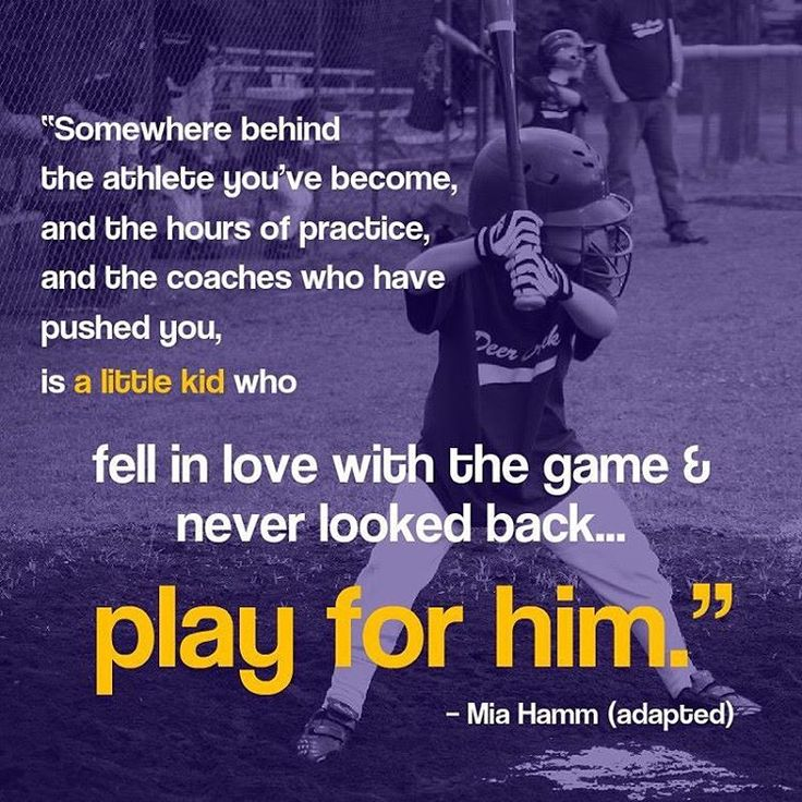 Somewhere behind the athlete you've become, and the hours of practice, and the coaches who pushed you is a little kid who fell in love with the game and never looked back... play for him.  Via Instagram @pro_baseball_insider free tips from the pros
