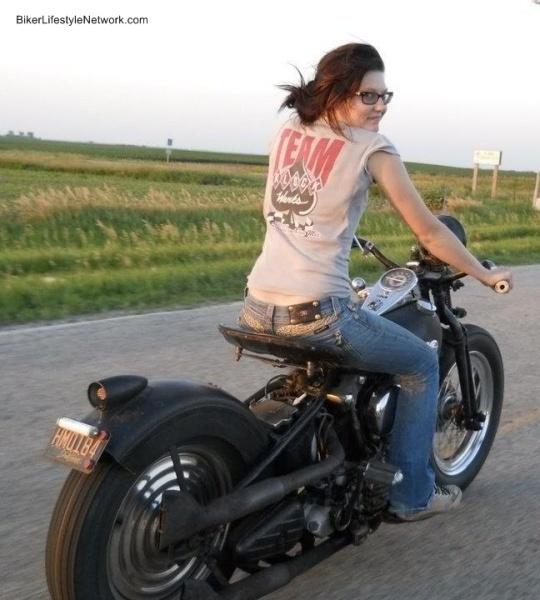 chicks on bikes .........cool
