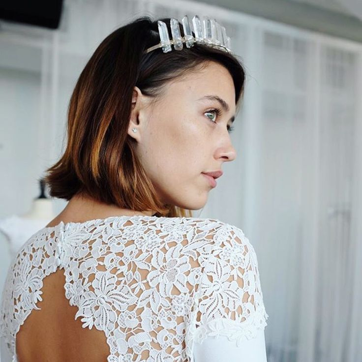 Crowns&Wreaths crystal crowns featured at Rime Arodaky's #RIMEARODAKY017 bridal runway show in NYC