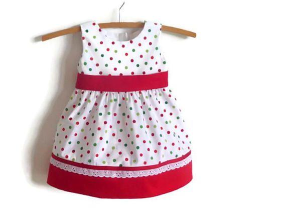 Baby Christmas dress  toddler Christmas dress girls