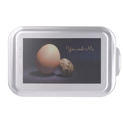 Chicken and quail eggs in love. Text «You and Me». Cake Pan #cakepan #chicken #quail #eggs #love #couple #lovers #beige #darkblue #stilllife #photography #darkness #funny #photo #food #kiychen #valentinesday  #darkpurple  #fantasy #youandme #customized #personalized #graphics #artwork #buy #sale #giftideas #zazzle #discount #deals #gifts #shopping