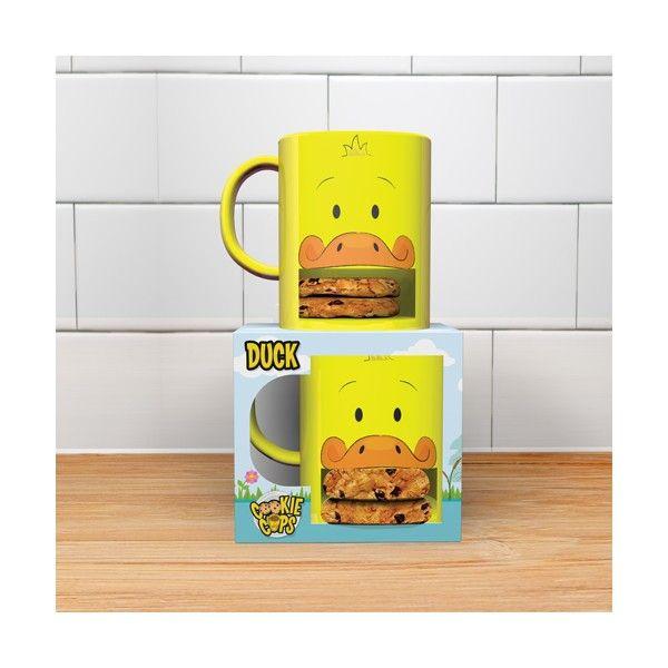 Mug drôle et pratique  Transporte votre gâteau  La pause goûter tout-en-un   #mug #cookie #coffee #duck #canard