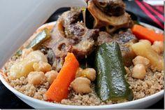 Couscous algerien / couscous à la semoule d'orge