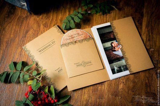 Подарочная упаковка ручной работы. Ярмарка Мастеров - ручная работа. Купить Кейсы для фото и диска. Handmade. Коричневый, для фотографий