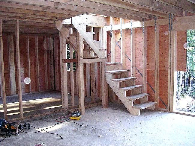Best 2 Bedroom Center Stair Second Floor Plans The Stairway Framing And Bedroom And Bath Behind 640 x 480