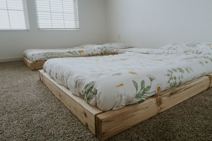 Montessori Floor Bed With Slats Furnishings Pinterest Bedrooms And Room