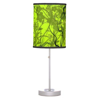 Light Green Table Lamp - light gifts template style unique special diy