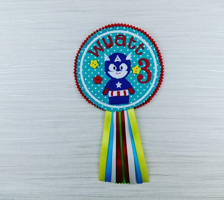 Boys Birthday Badge - Captain America - Birthday Badge -Personalised Badge - Hero Party Badge - Gift for Him - Celebration Badge - Superhero by AHeartlyCraft on Etsy
