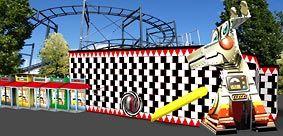 Illusions fabrikken - et Hurlumhej hus designet til Tivoli Friheden Aarhus af Junge Design Aps & Ikke en Pind