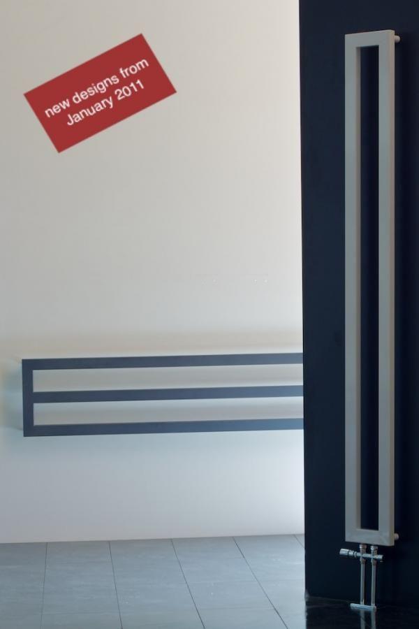 Design radiator smal, smalle radiator, smalle verwarming / horizontale radiator