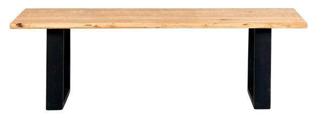 Oak Banco Preto Castanho H 45 X L 100 X D 40 Cm Oak Banco Preto Castanho H 45 X L 100 X D 40 Cm