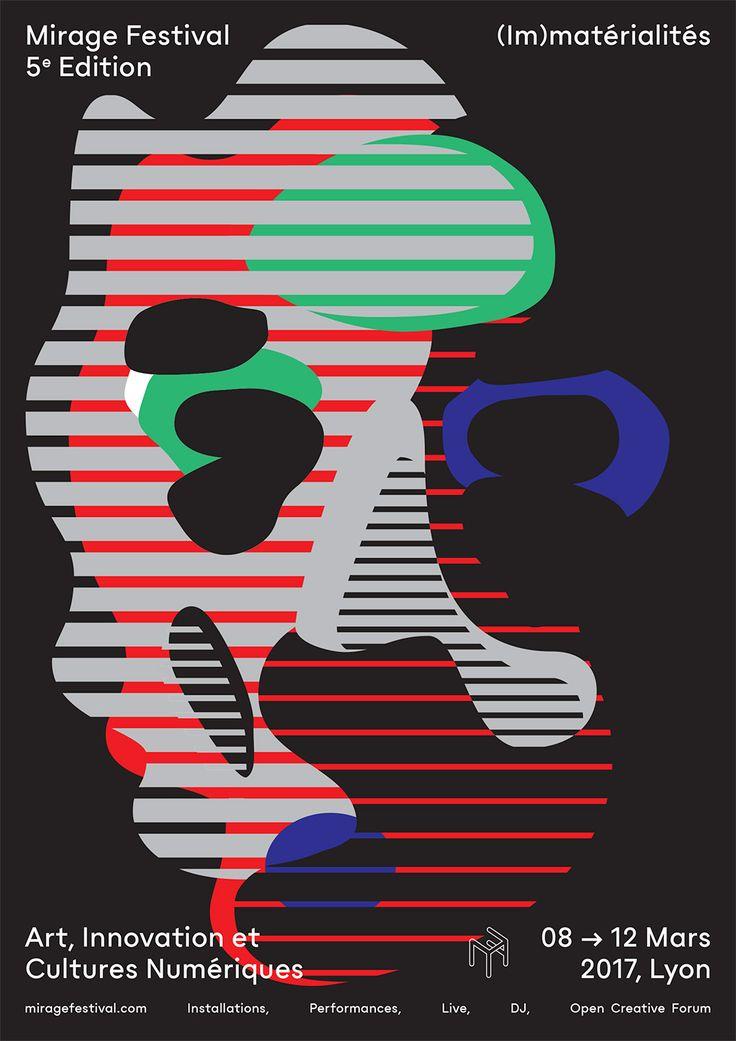 affiche mirage festival lyon graphisme