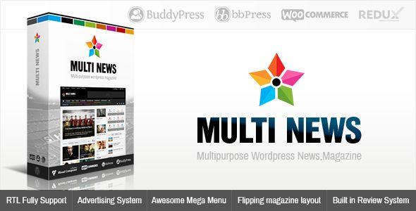 Multinews v2.0 - Multi-purpose WordPress News, Magazine