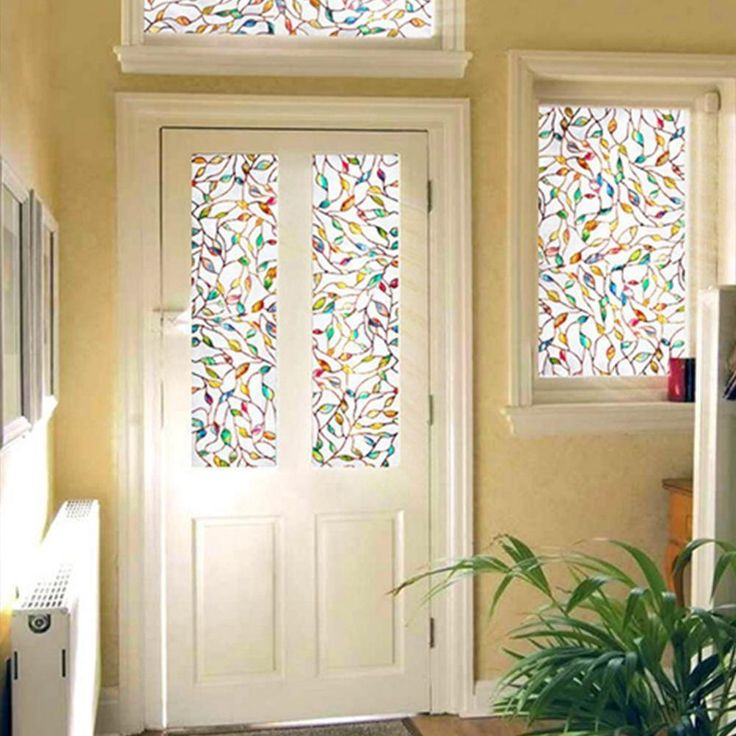 45x100cm 3D Color Leaves Sunscreen Glass Window Film Home Decoration Sticker #Unbranded