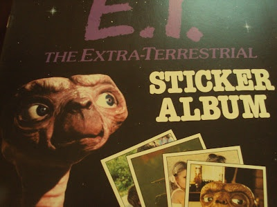 Panini sticker books. I had ET, Kids from Fame and Robin Hood (Disney).