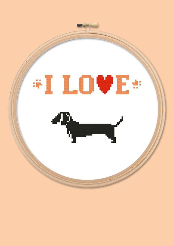 cross stitch patternx-stitchI Love Dogsinstant downloadpdf