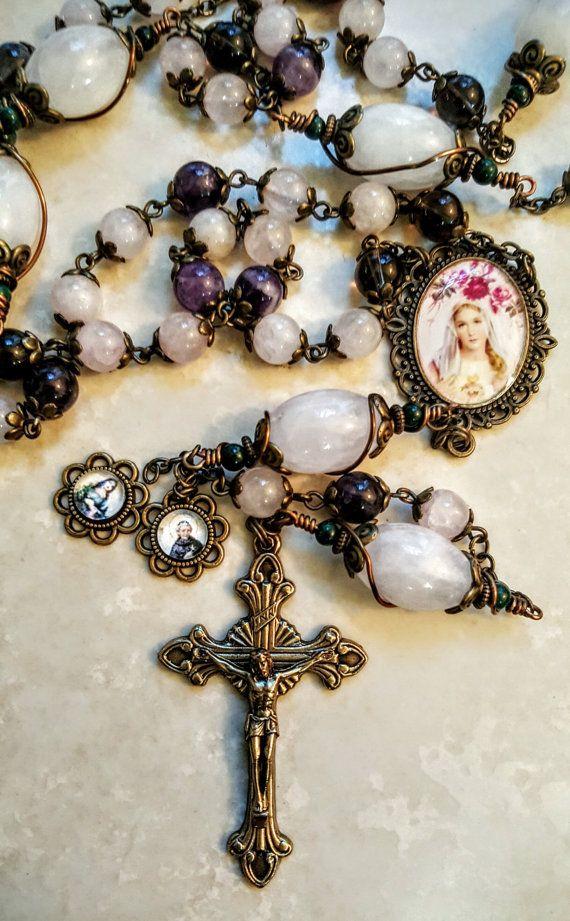 Breast Cancer St Agatha St Peregrine Hope Charm by Blessandhealme