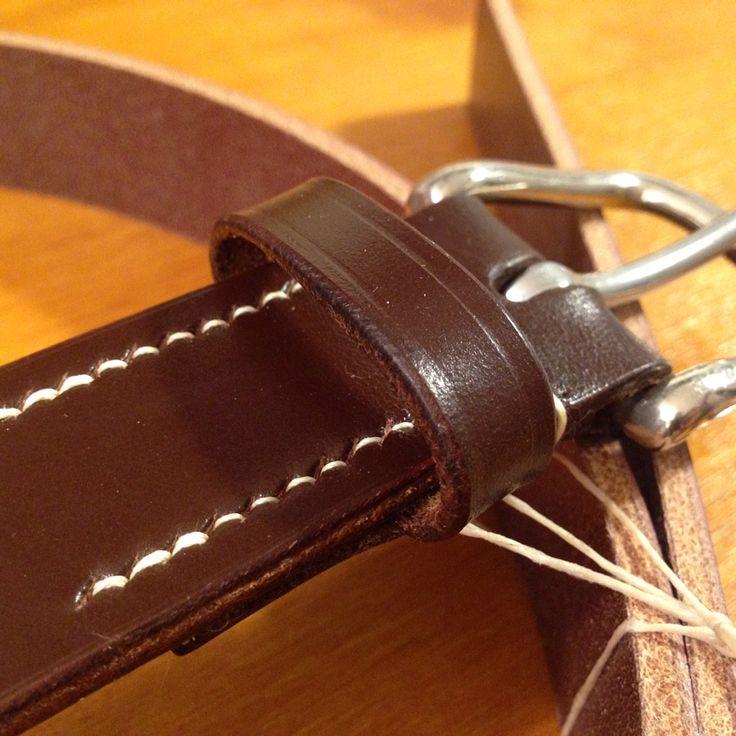 Before and after....English bridle leather belt. #leatherbelt #fineleathergoods #handcrafted #madeinromania #vegtanned #mensfashion #jesedgwick #sedgwick #englishbridleleather #bridleleather