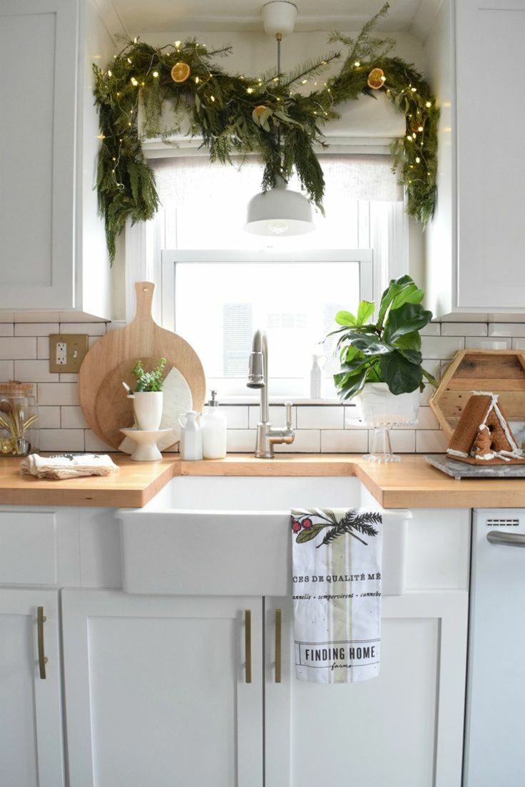 die besten 25 k che weihnachtlich dekorieren ideen auf. Black Bedroom Furniture Sets. Home Design Ideas