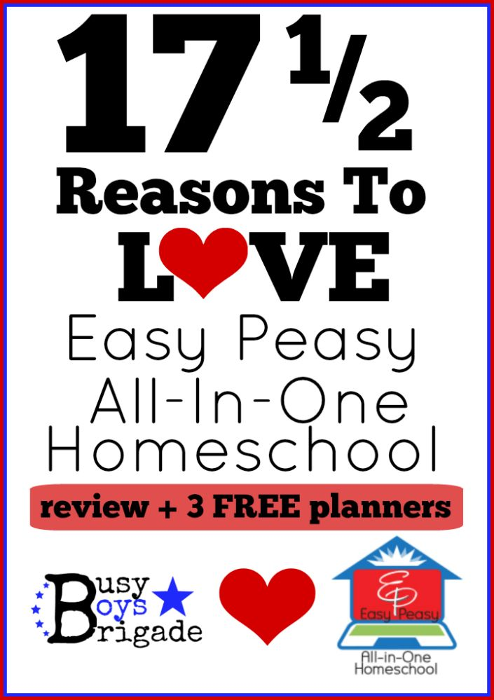 17 1/2 Reasons To Love Easy Peasy All-In-One Homeschool! - Frugal, Fun, Complete-homeschool learning that can't be beat! 3 FREE PLANNERS!