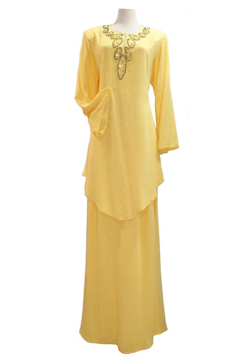 Baju Kurung - 23-1245411 Baju Kurung - 23-1245411 | Price: $59.90 | Color: Black, Yellow, Peach, Blue | Size: 36, 38, 40, 42, 44 [DF10193] - $62.30 : Unique Womens Clothing, The unique clothing store for all ladies