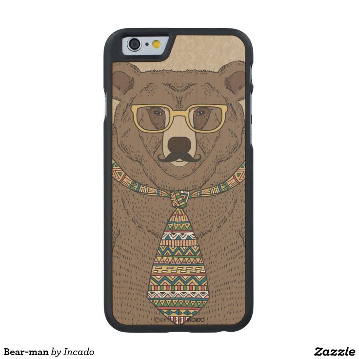 Bear-man Carved® Maple iPhone 6 Slim Case