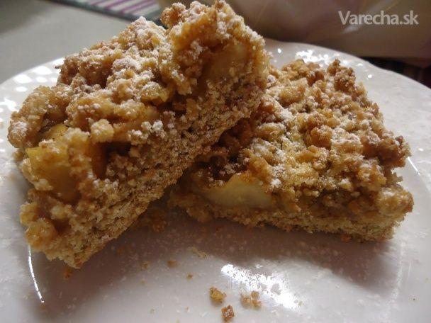 Zdravý jabĺčkový koláč s mrveničkou