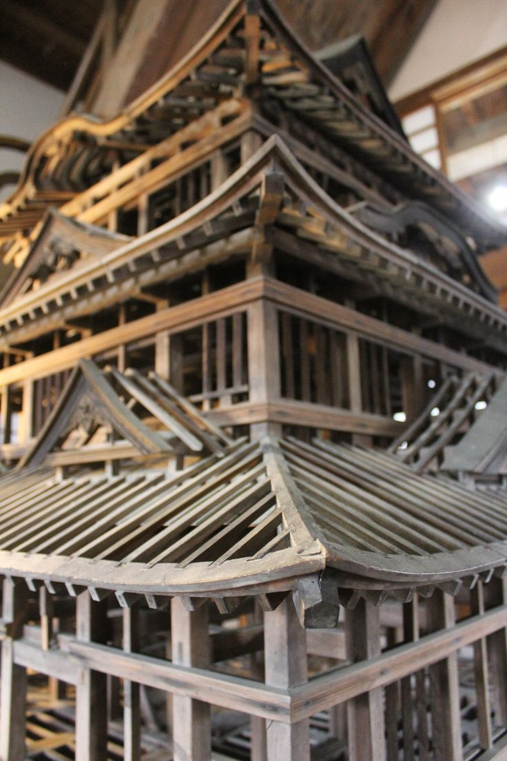 A model of the framework beneath Uwajima Castle #Uwajima #castle #architecture