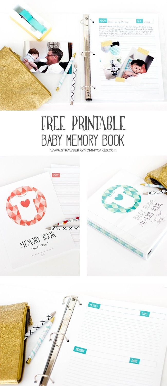 Keep track of all those memories from the first year with this Printable Baby Memory Book! You'll cherish this forever! Get more #FreePrintables at https://www.pinterest.com/hre/